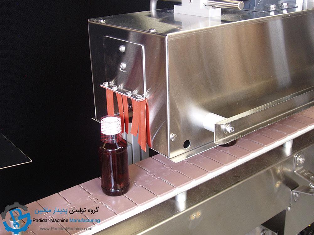 پلمپ درب بطری شیشه ای به کمک لیبل شرینک